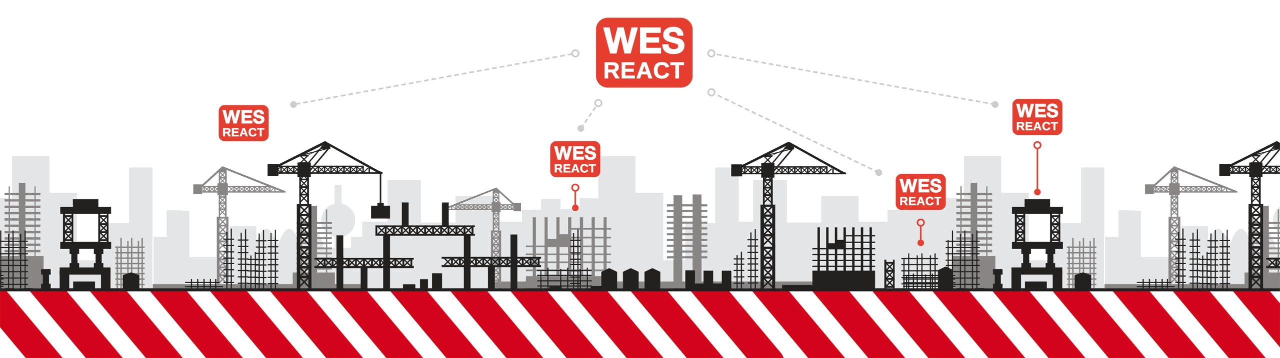 WES REACT Managementsystem zentrale Steuerung WES3 Arbeitsschutz ESB Solutions
