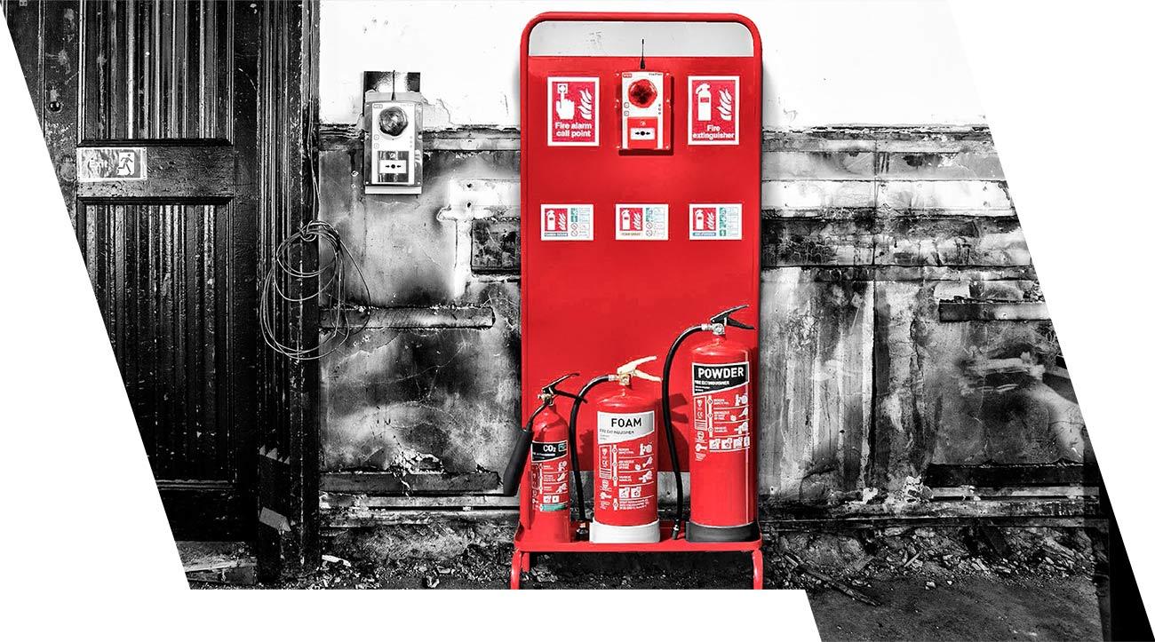Fire-Point-Trolley Baustellensicherheit
