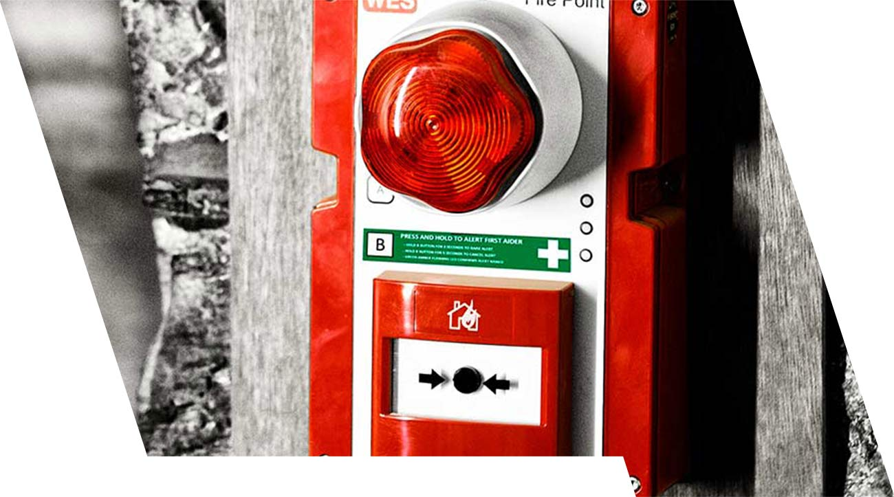WES3 mobile Brandmeldeanlage und Evakuierungssystem mit medizinsichen Alarm