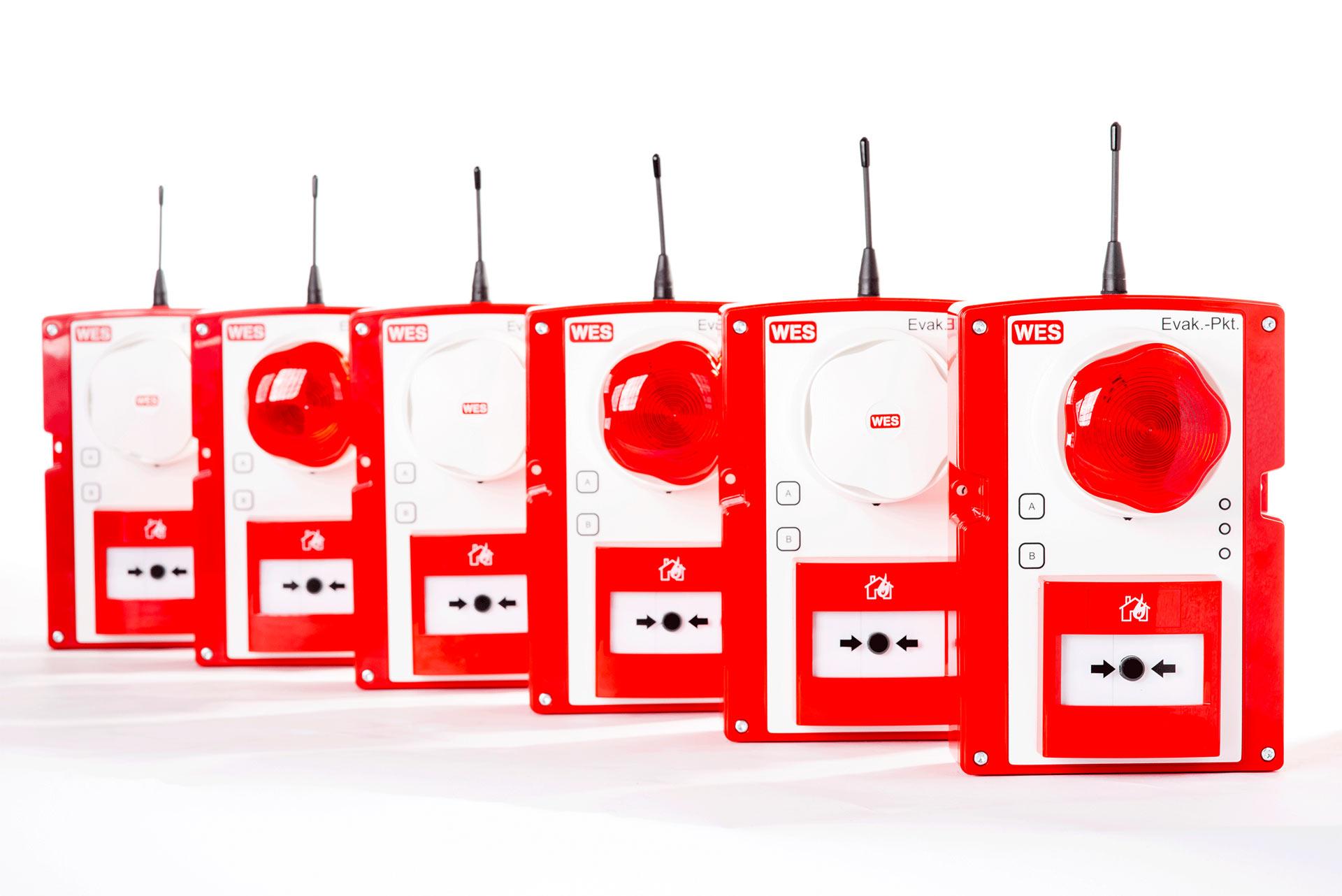 WES+ mobile Brandmeldeanlage und Evakuierungssystem für Baustellen EN54-25