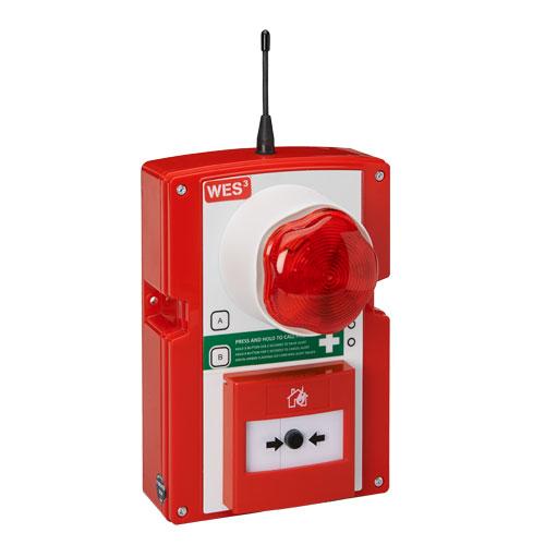 WES3 Druckknopfmelder mobile Evakuierungs- und Brandmeldeanlage