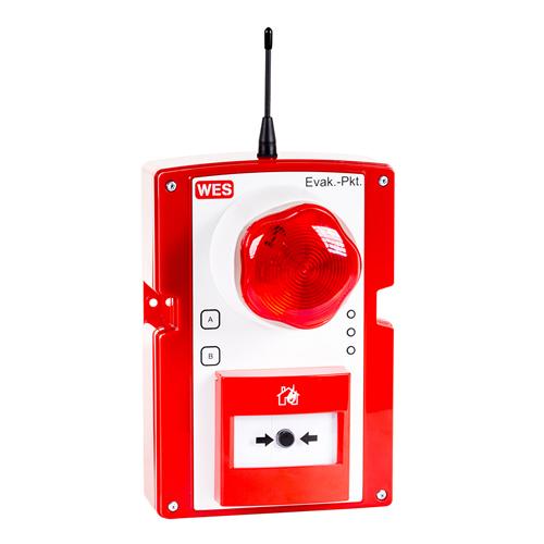 WES+ Druckknopfmelder mobile Evakuierungs- und Brandmeldeanlage
