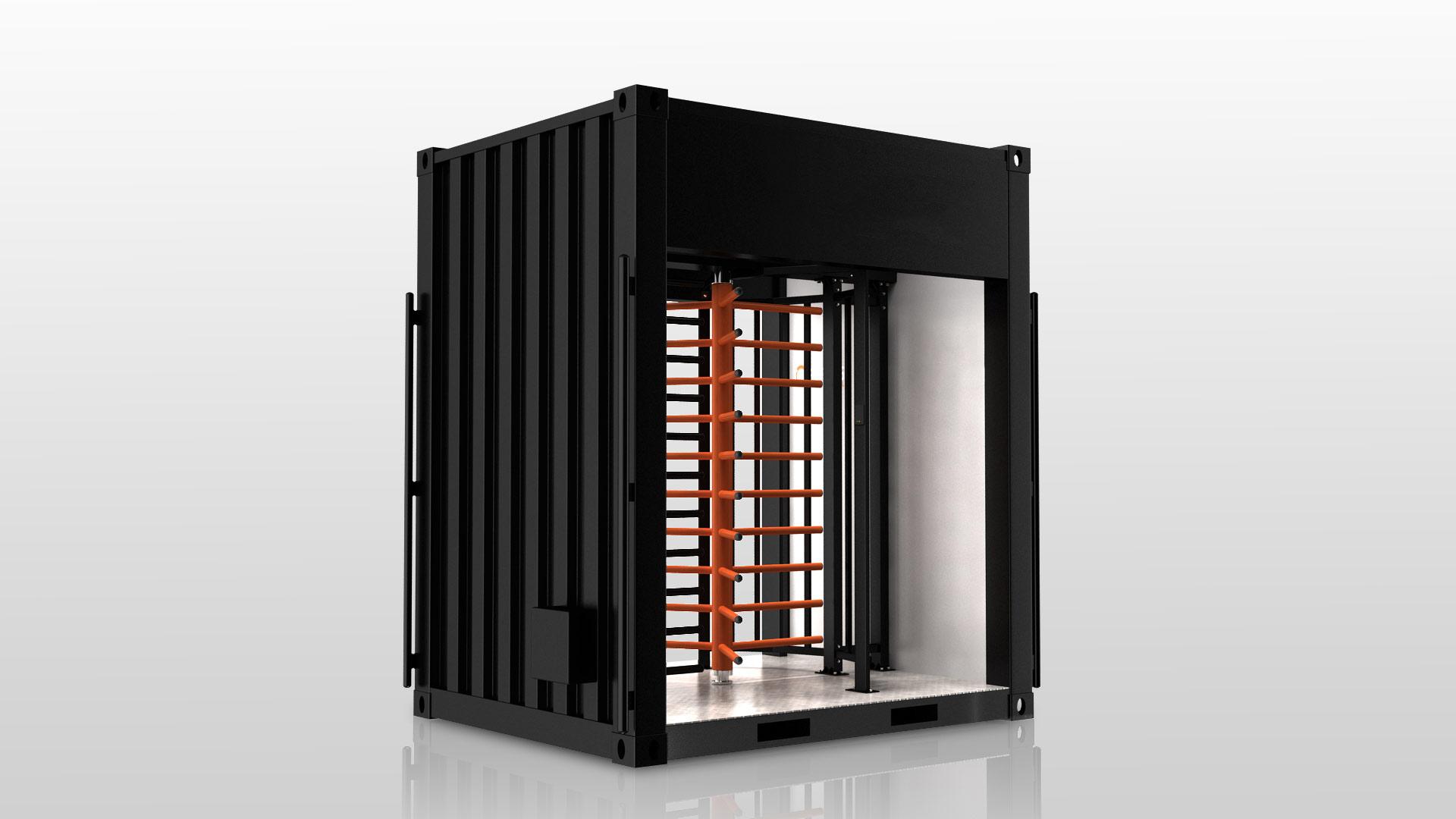 Zutrittskontrollanlage Gate 1 Baustelle ESB Solutions IQ-Pass