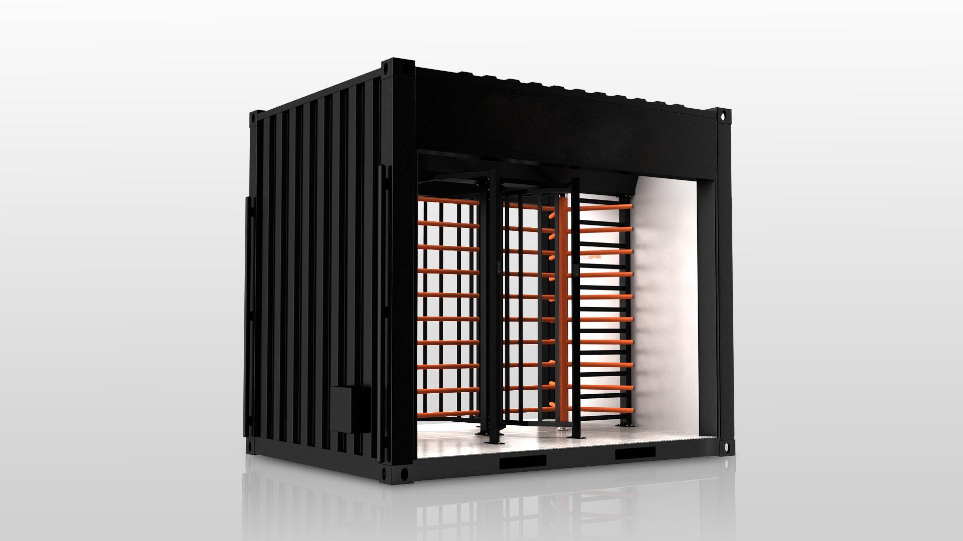 Zutrittskontrollanlage Gate 2T Baustelle ESB Solutions IQ-Pass