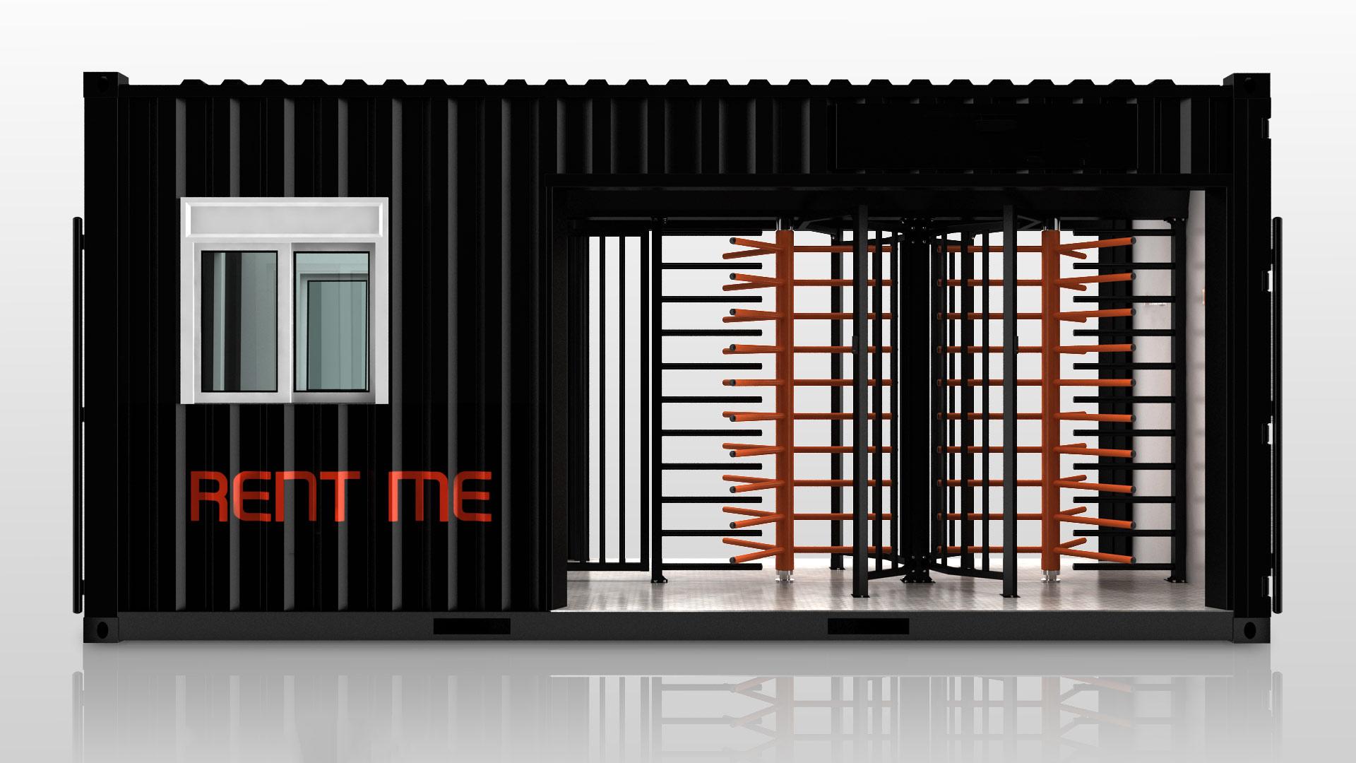 Zutrittskontrollanlage Gate XL Baustelle ESB Solutions IQ-Pass