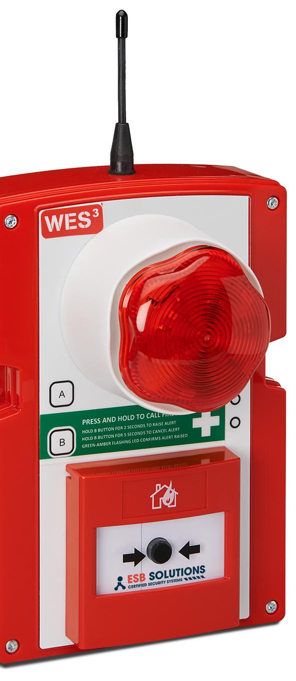 WES3 mobile Brandmeldeanlage Druckknopfmelder von ESB Solutions