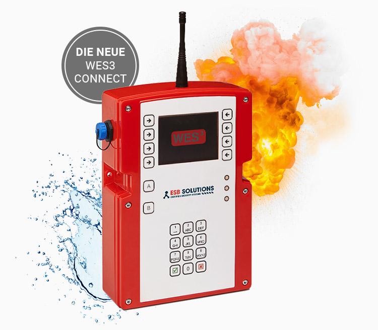 Mobile Brandmeldeanlage und mobile Evakuierungsanlage WES3 Connect Basisstation Zentrale mit 4G von ESB Solutions