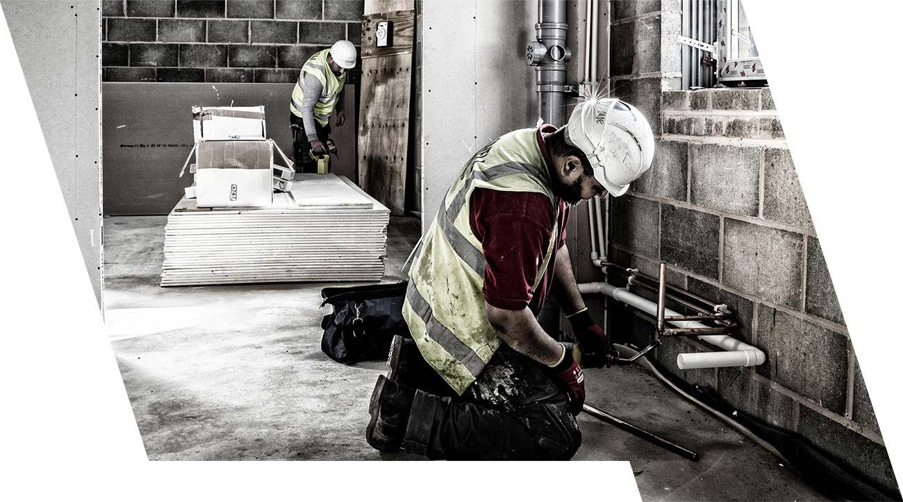 ESB Solutions Baustelle mobile Brandmeldeanlage und Evakuierung WES+ WES3 Dienstleistung