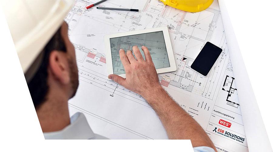 ESB Solutions Planung mobile Brandmeldeanlagen und Baustellensicherheit mit Zutrittskontrolle und mobile Videoüberwachungsanlagen