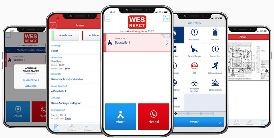 WES REACT Alarmierungsplattform und Kommunikationsplattform