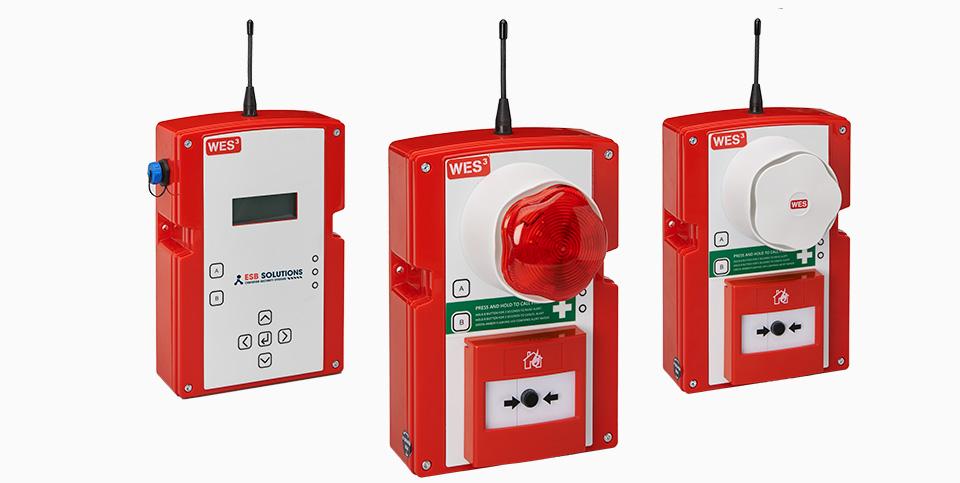 WES3 mobile Brandmeldeanlage & mobile Evakuierungsanlage von ESB Solutions