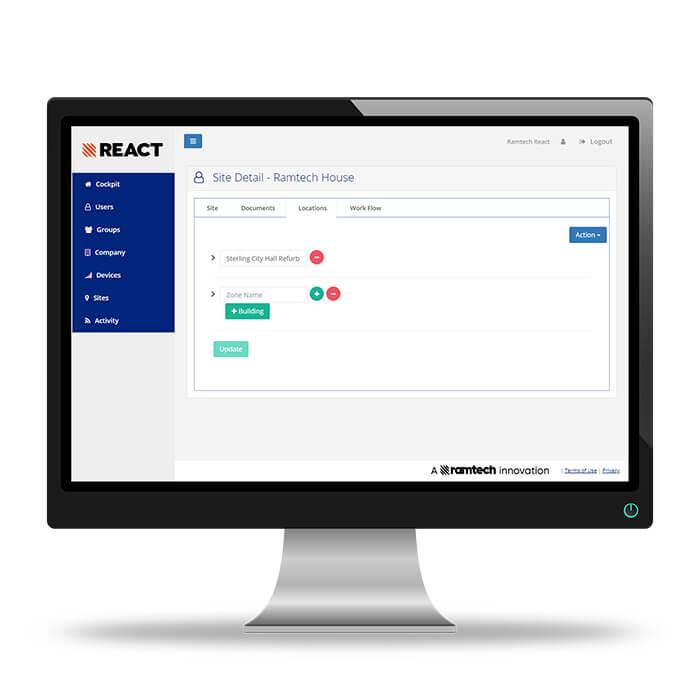 REACT App Darstellung Benuzteroberfläche PC